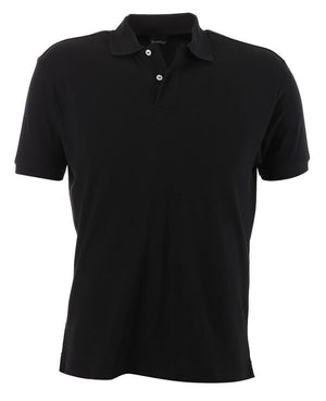 identitee-identitee Mens Venice Slim Cut Polo Shirt-Black / S-Uniform Wholesalers - 2