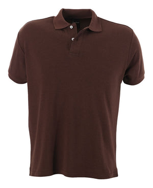 identitee-identitee Mens Venice Slim Cut Polo Shirt-Chocolate / S-Uniform Wholesalers - 3