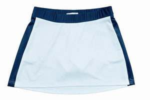 Bocini-Bocini Ladies Tennis Skirt-8 / White/Navy-Uniform Wholesalers - 2