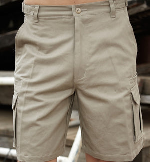 Bocini-Bocini Cotton Drill Cargo Shorts--Uniform Wholesalers - 1