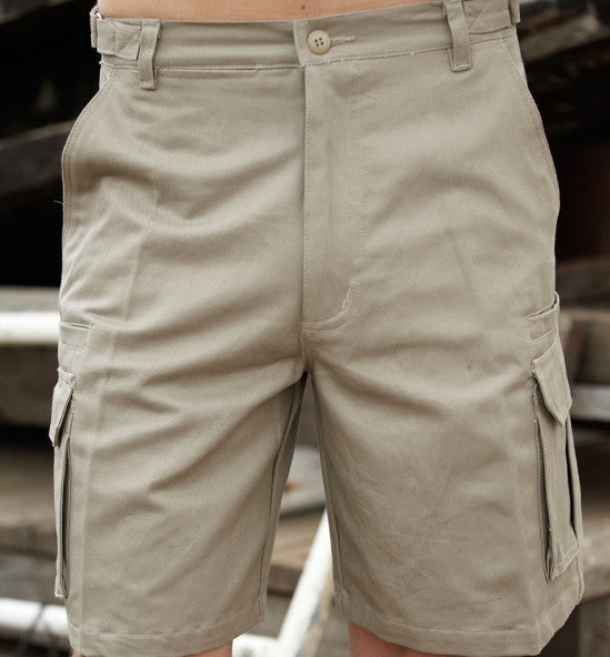Bocini Cotton Drill Cargo Shorts-(WK615)
