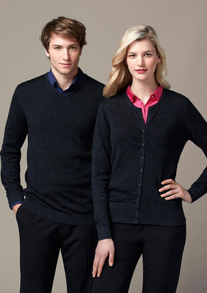 Biz Collection-Biz Collection Mens Origin Merino Pullover--Uniform Wholesalers - 1