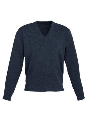 Biz Collection-Biz Collection Mens Woolmix L/S Pullover-Navy / XS-Uniform Wholesalers - 2