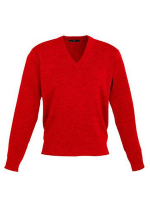 Biz Collection-Biz Collection Mens Woolmix L/S Pullover-Red / XS-Uniform Wholesalers - 5