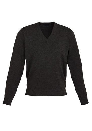 Biz Collection-Biz Collection Mens Woolmix L/S Pullover-Black / XS-Uniform Wholesalers - 3