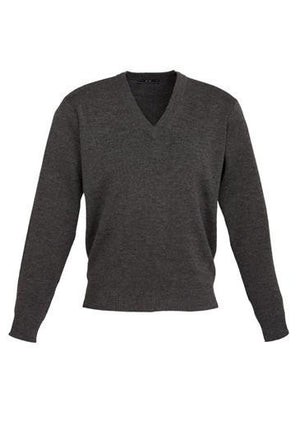 Biz Collection-Biz Collection Mens Woolmix L/S Pullover-Charcoal / XS-Uniform Wholesalers - 4