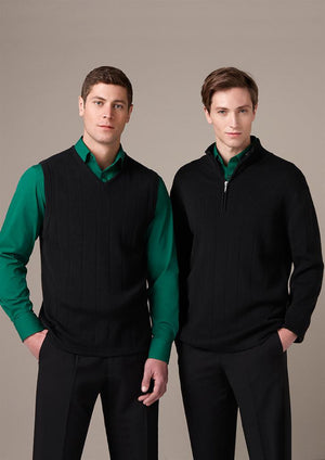 Biz Collection-Biz Collection Mens 80/20 Wool-Rich Pullover--Uniform Wholesalers - 1