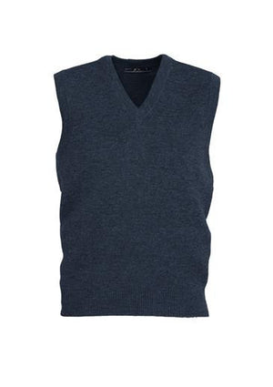 Biz Collection-Biz Collection Mens  Woolmix Vest-Navy / XS-Uniform Wholesalers - 2