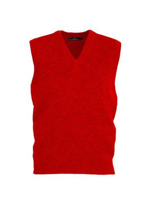 Biz Collection-Biz Collection Mens  Woolmix Vest-Red / XS-Uniform Wholesalers - 5