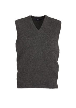 Biz Collection-Biz Collection Mens  Woolmix Vest-Charcoal / XS-Uniform Wholesalers - 4