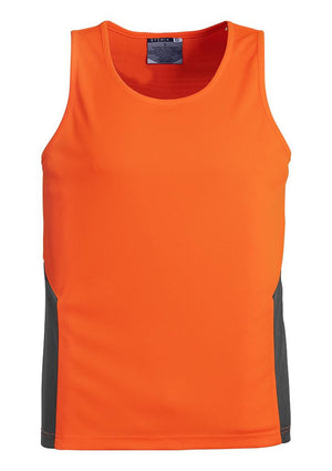 Syzmik-Syzmik Day Only Squad Singlet-Orange/Charcoal / XXS-Uniform Wholesalers - 2