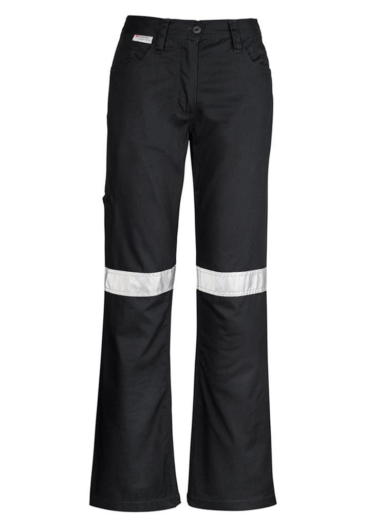 Syzmik-Syzmik Womens Taped Utility Pant-Black / 8-Uniform Wholesalers - 2