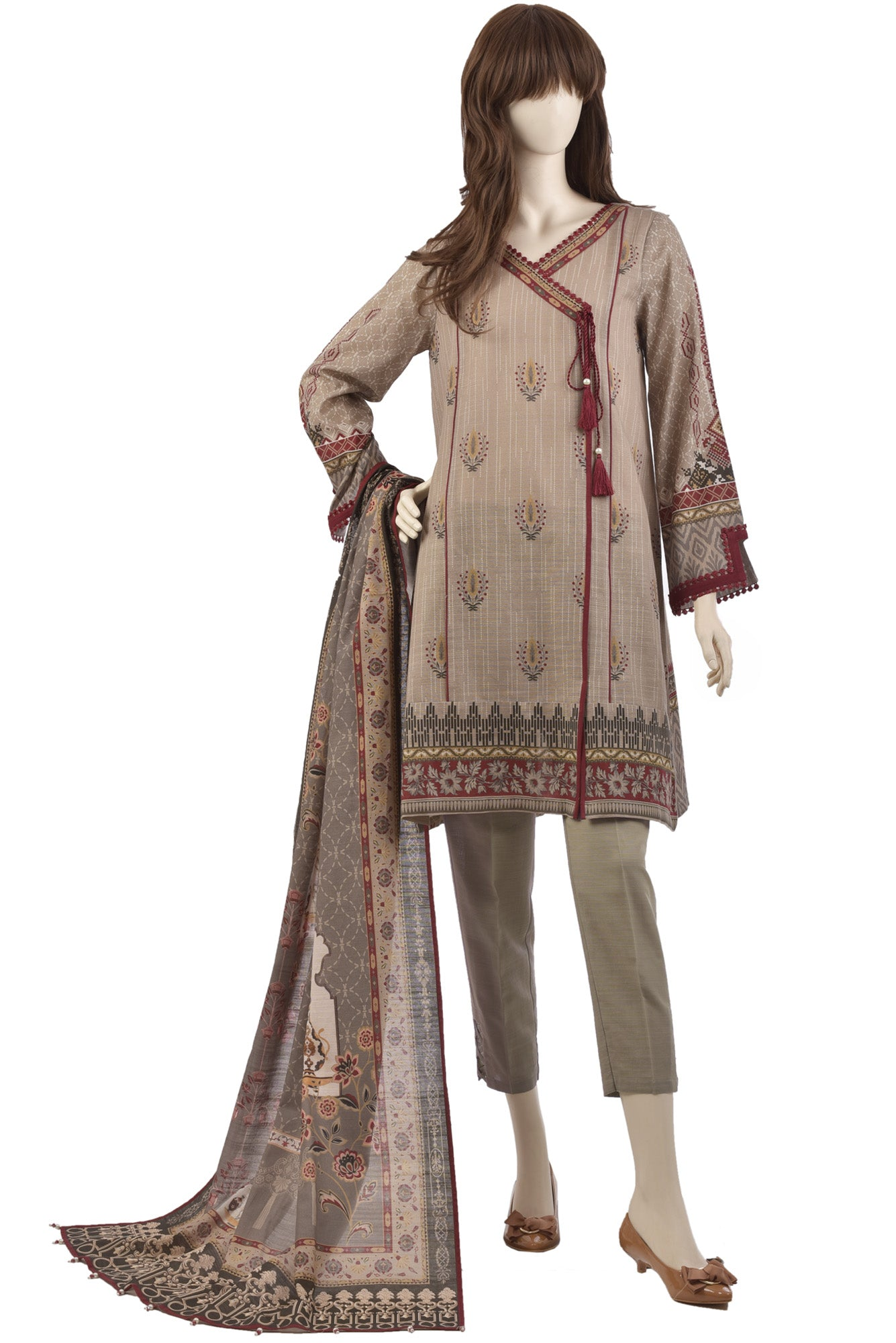 ROUGE POP UB-1927-7A (SHIRT/DUPATTA) - Saya