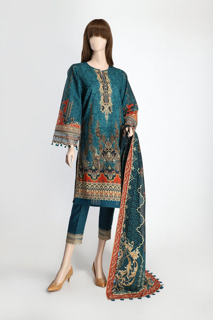 Unstitched Printed Embroidered Cambric 3 Piece