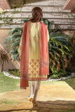 Unstitched Lawn Embroidered 3 Piece