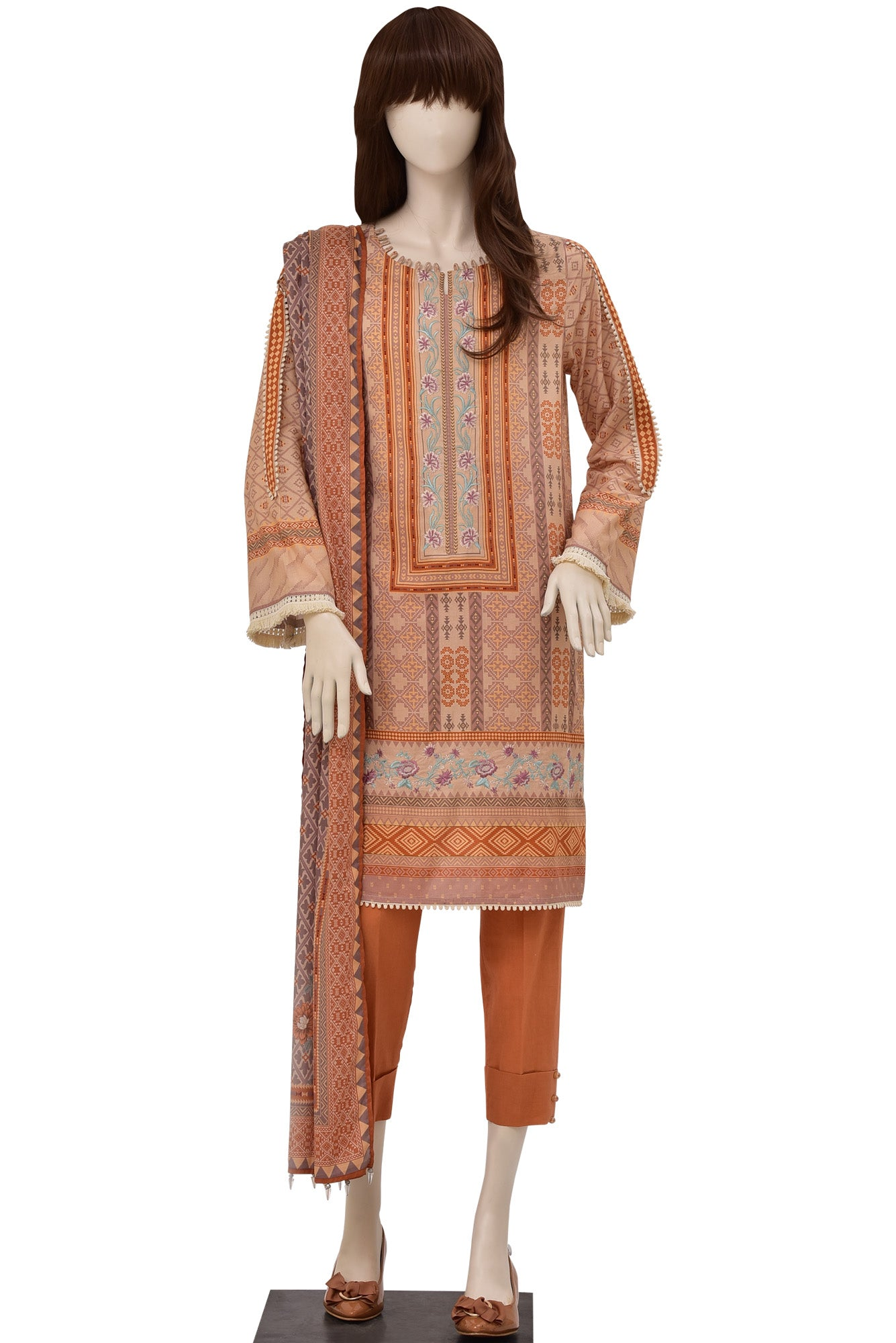 KILIM UP-1915-03D (SHIRT/DUPATTA) - Saya