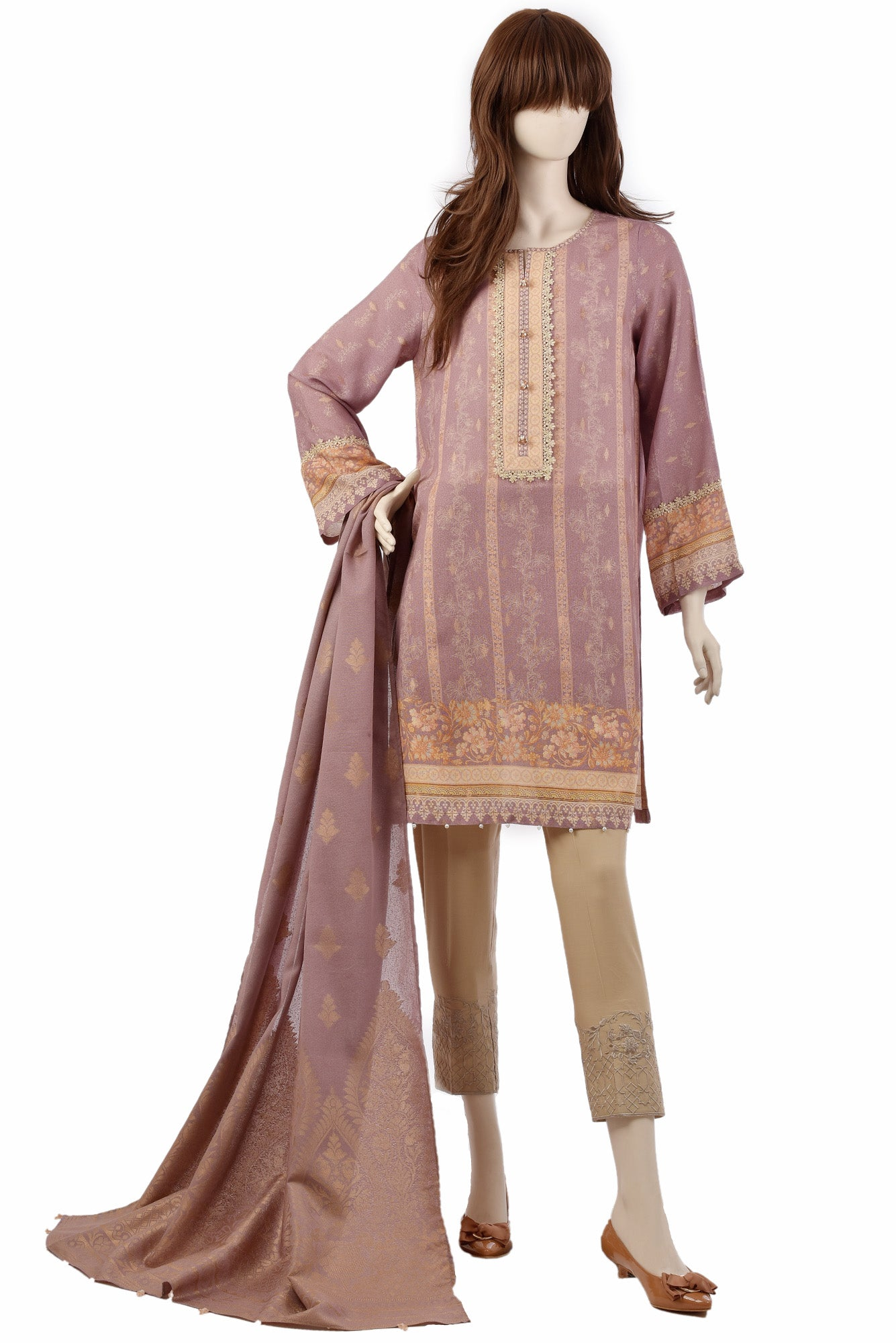 TRICKLED FLORA UP-1927-1A (SHIRT/DUPATTA)