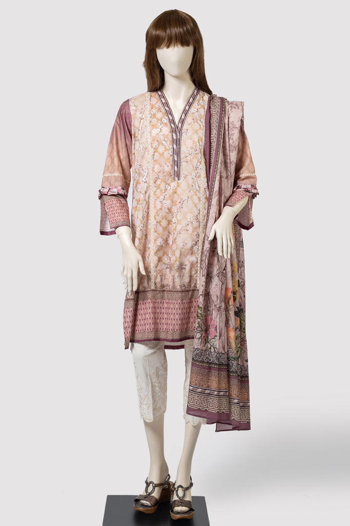 JOVIAL MIST (UP184-4A) (SHIRT/DUPATTA) - Saya