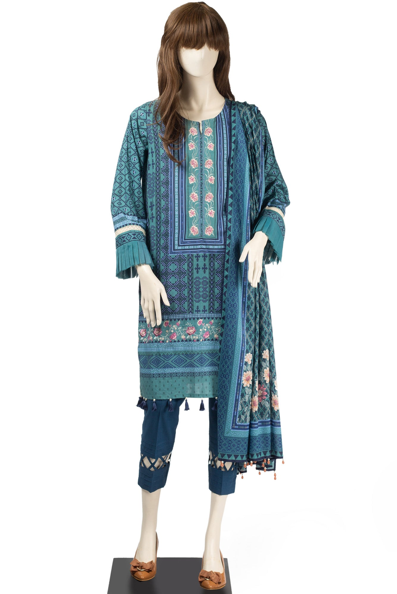 KILIM UT-1915-03B (EMBROIDERED SHIRT) - Saya