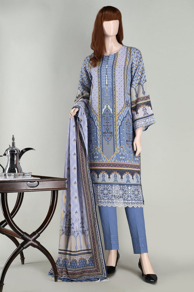 Unstitched Printed Embroidered Lawn Shirt