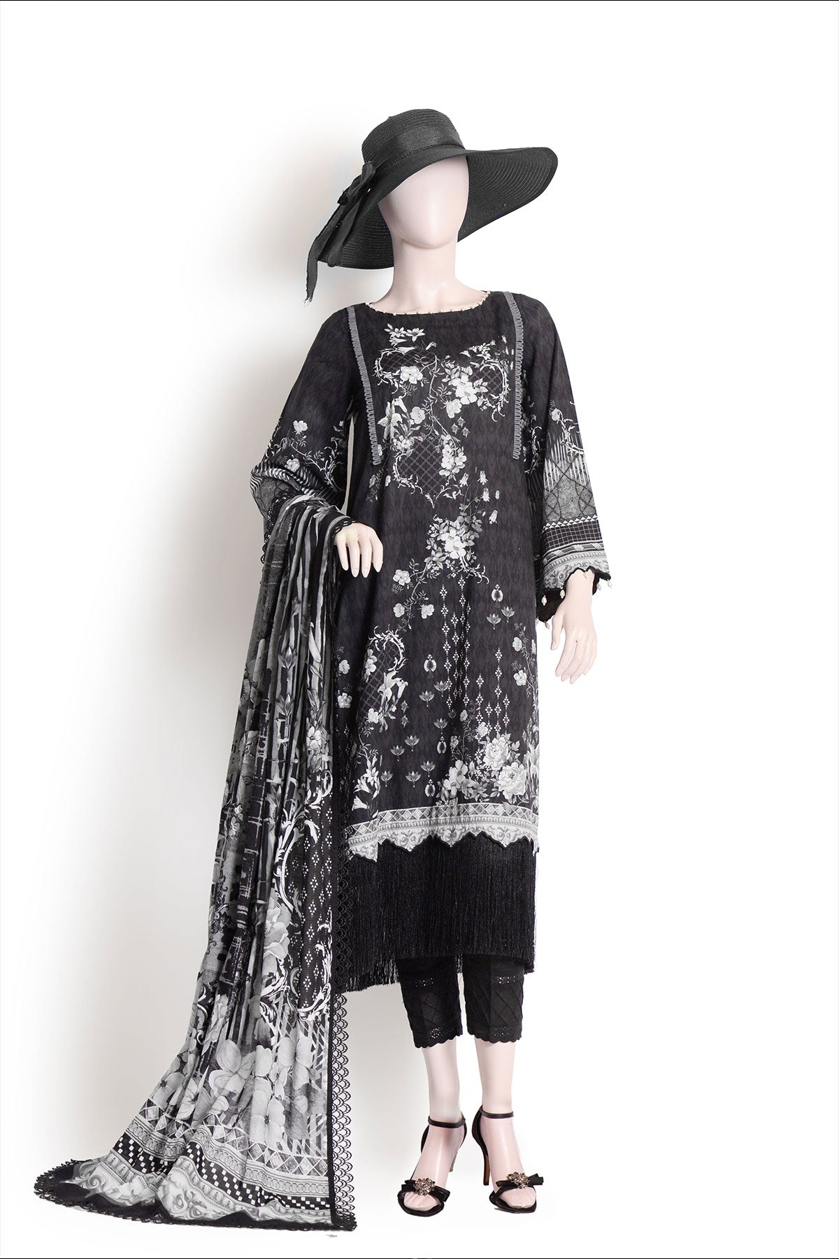MUTED ILLUSION (UB185-03) (SHIRT/DUPATTA) - Saya