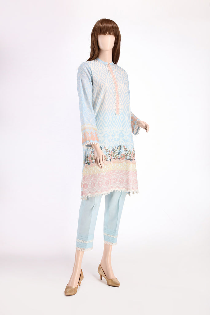 Printed Embroidered Lawn Shirt