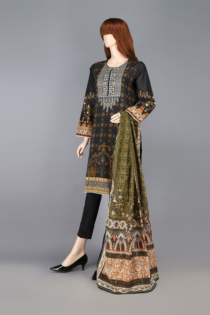 Printed Embroidered Lawn 3 Piece
