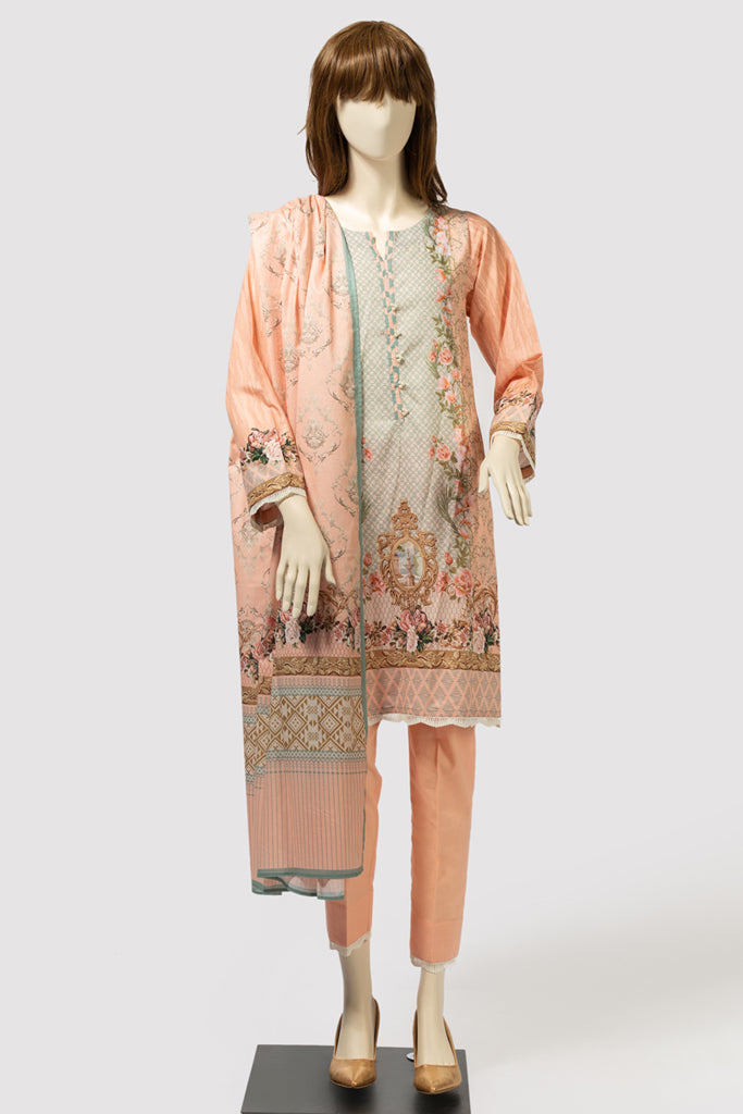 FLORAL BOUQUET (UP-196-20A) (SHIRT/DUPATTA) - Saya
