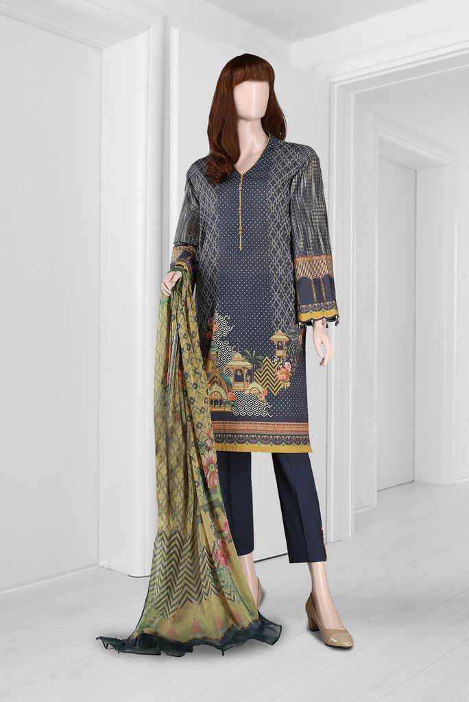 Unstitched Printed Lawn 3 Piece
