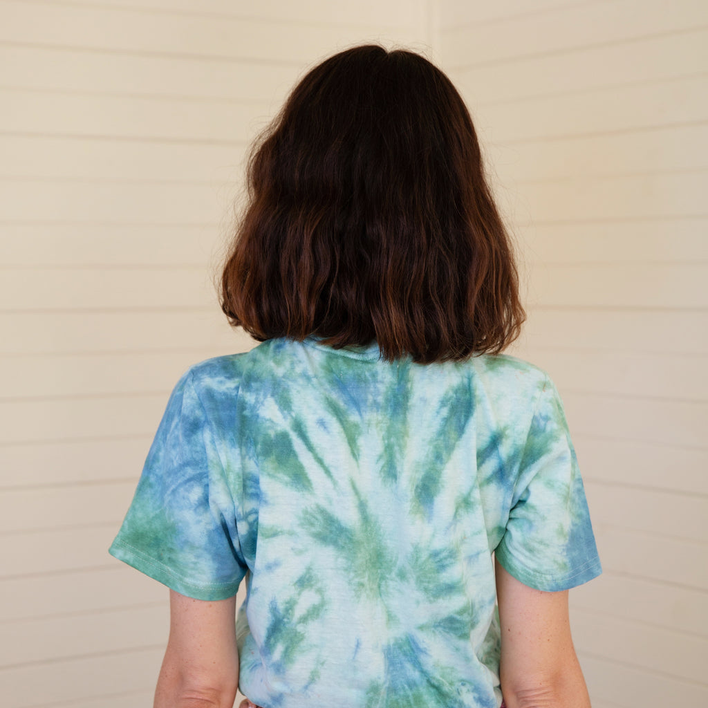 Mother of Sun : Tie Dyed Hemp Tee - Spruce
