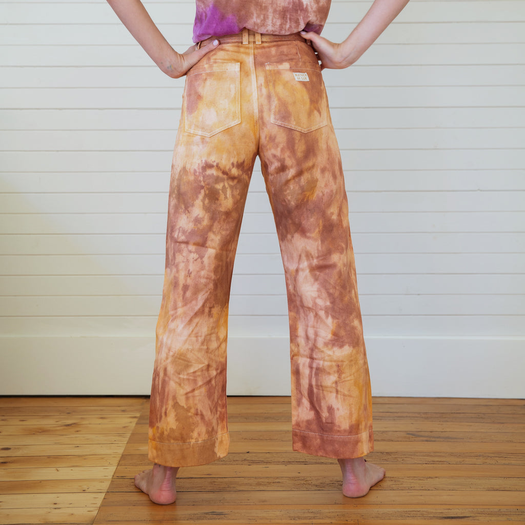 Mother of Sun : Tie Dyed Hemp Pants - Lava