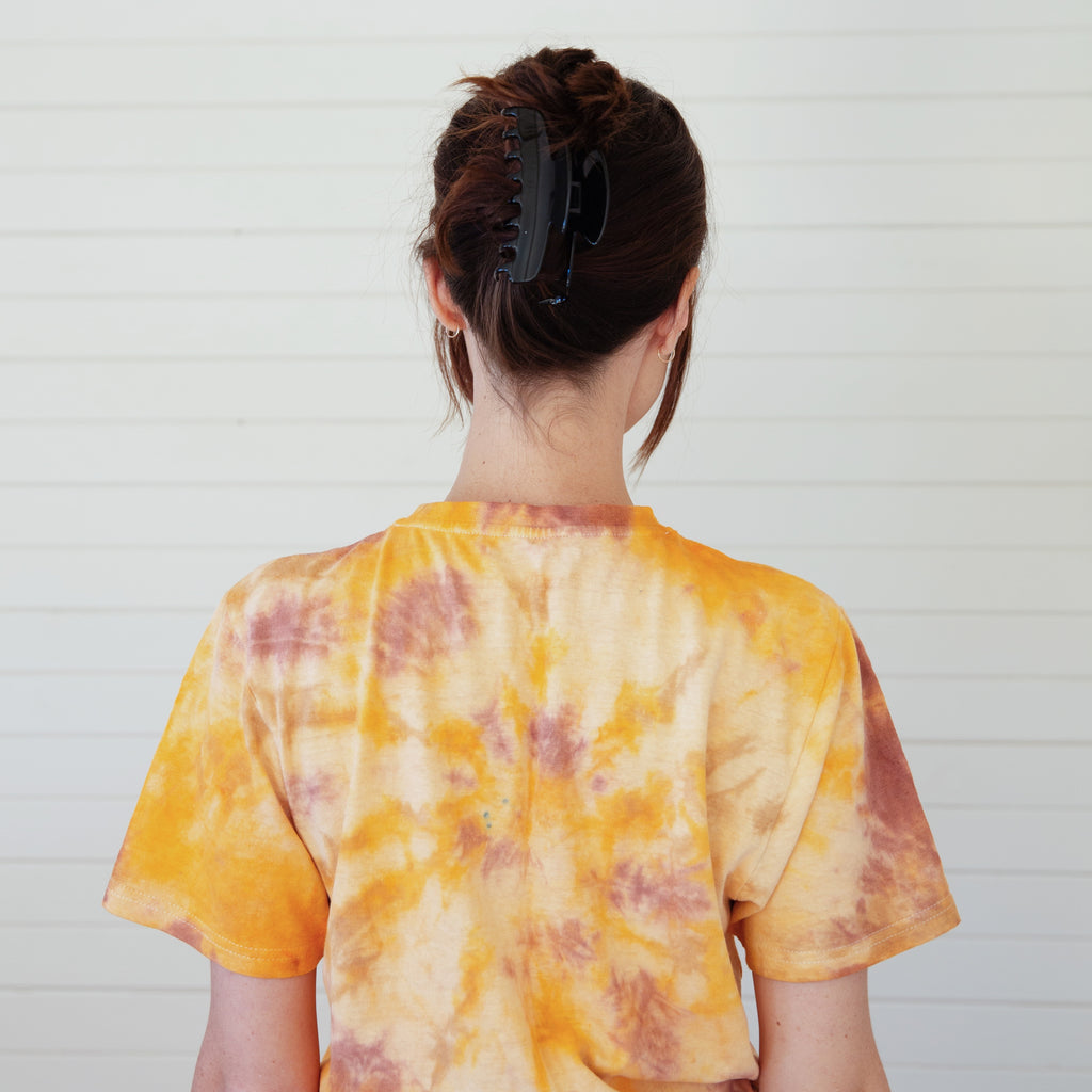 Mother of Sun : Tie Dyed Hemp Tee - Lava