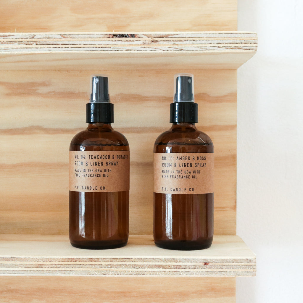 PF Candle Co : Room & Linen Spray (Teakwood & Tobacco)
