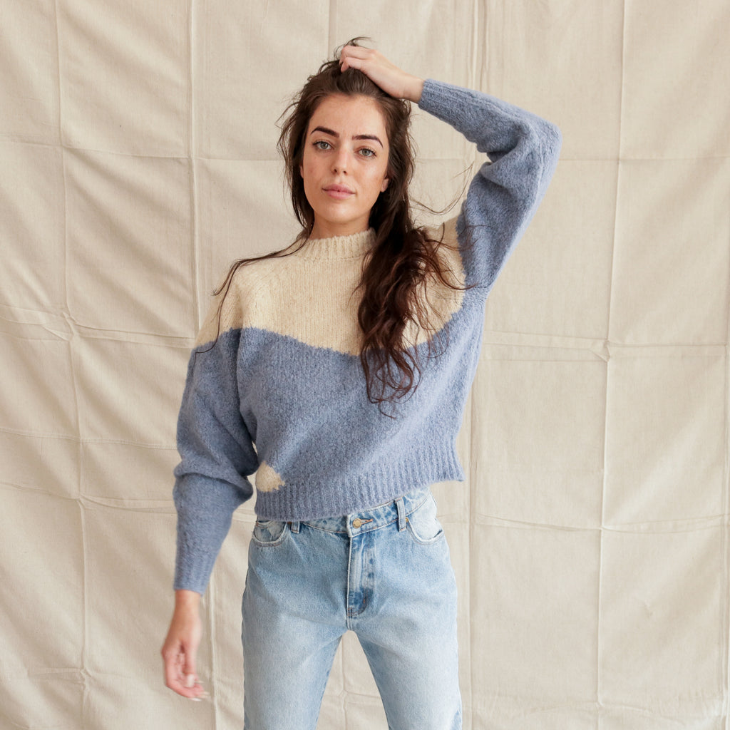 Paloma Wool : Yin Yang Sweater Soft Blue