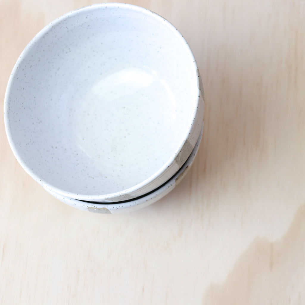 Public Holiday : White Speckled Patterned Bowl