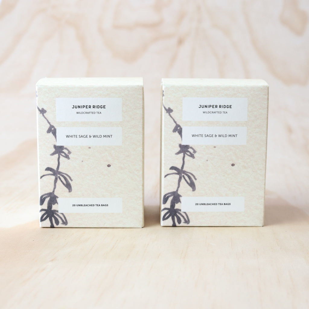 Juniper Ridge : Wildcrafted Tea - White Sage and Wild Mint