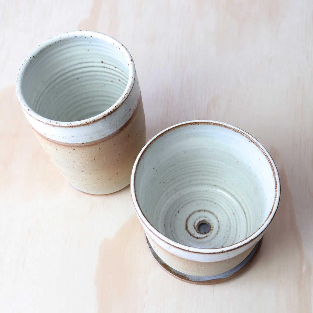 Leaf and Thread : Desert Stoneware Planter