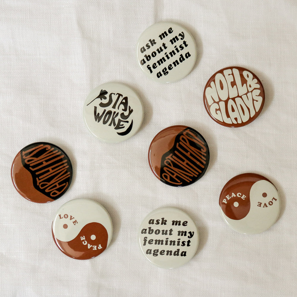 Noel & Gladys : Protest Button Set