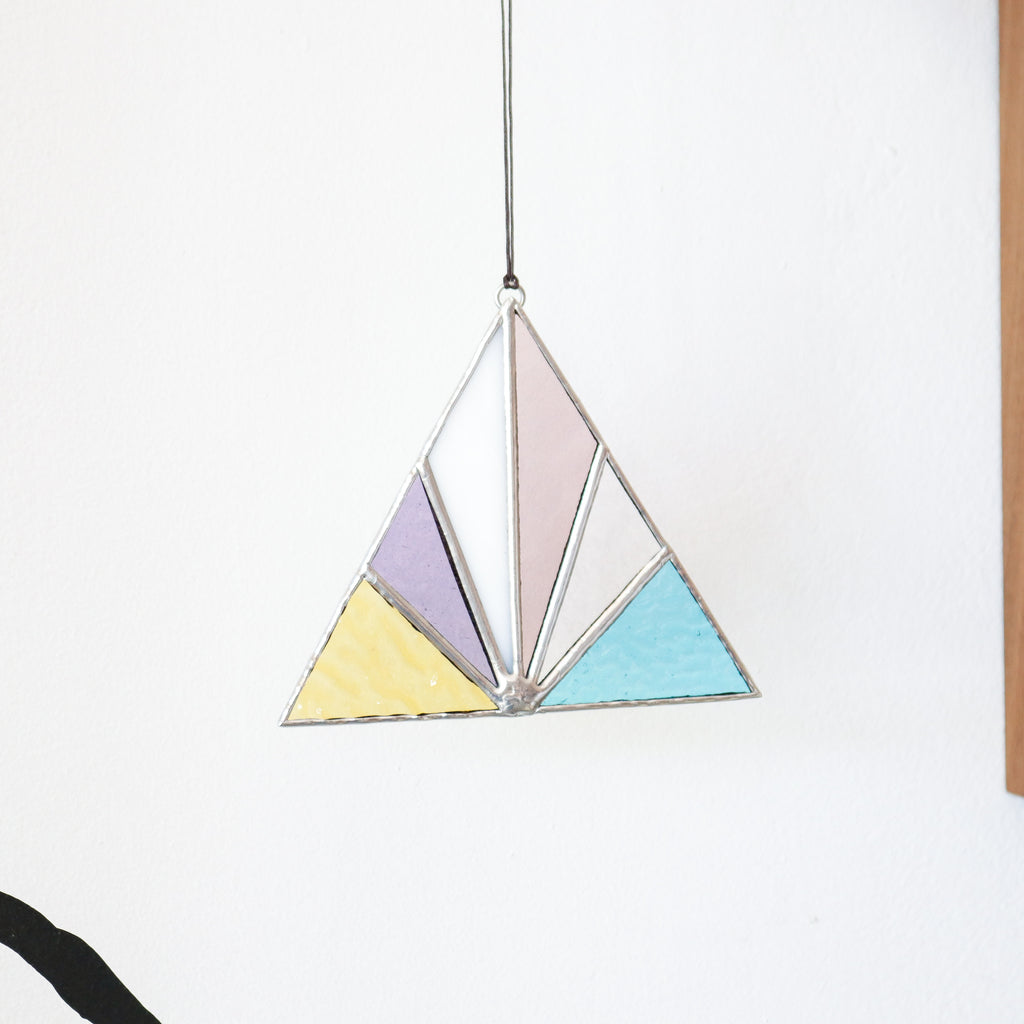 Afternoon Sun : Triangle Suncatcher #9
