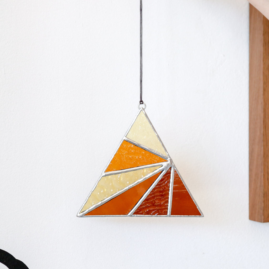 Afternoon Sun : Triangle Suncatcher #10