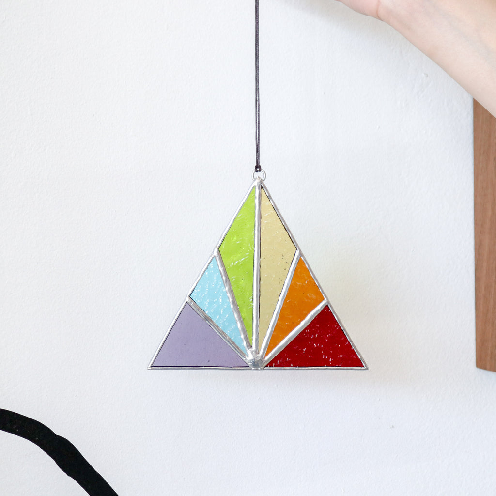 Afternoon Sun : Triangle Suncatcher #2
