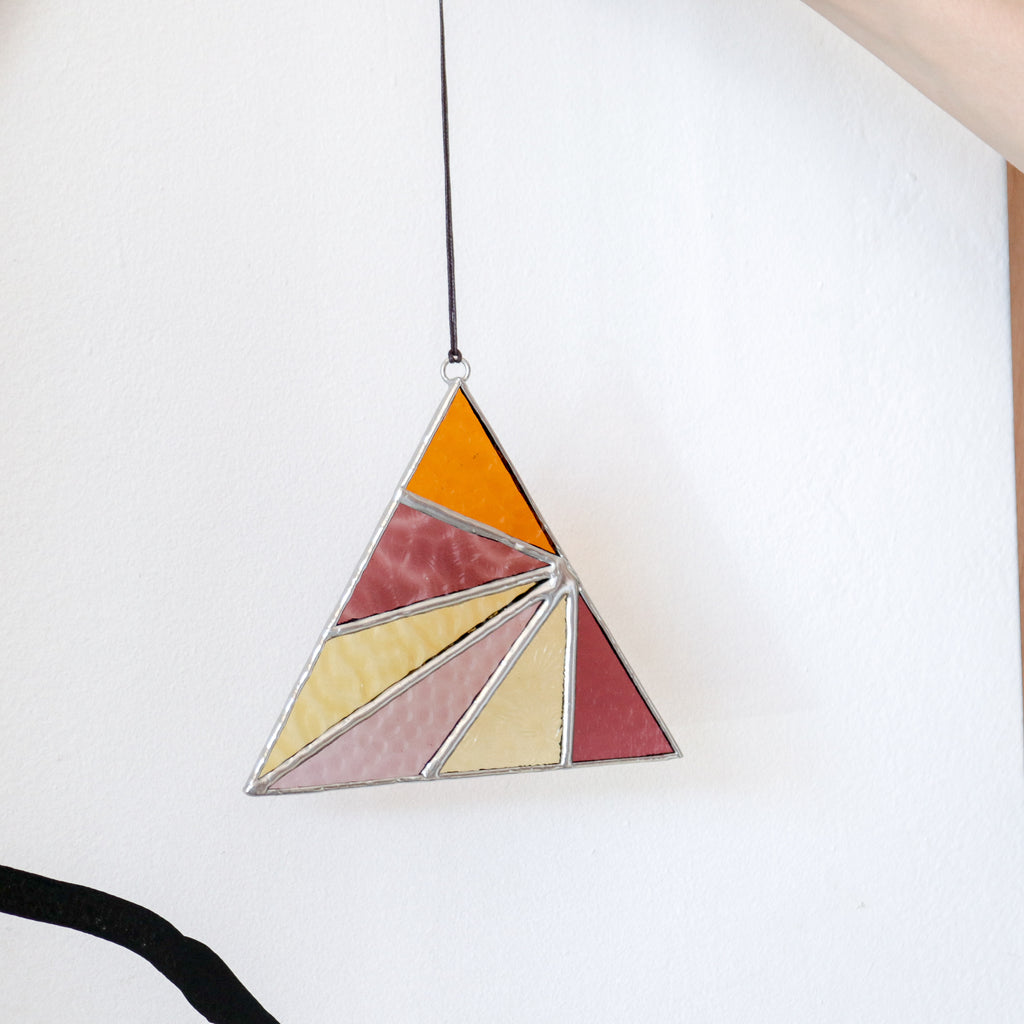 Afternoon Sun : Triangle Suncatcher #3