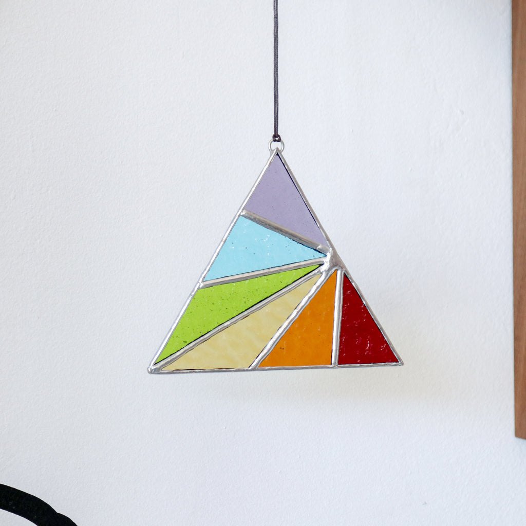 Afternoon Sun : Triangle Suncatcher #4