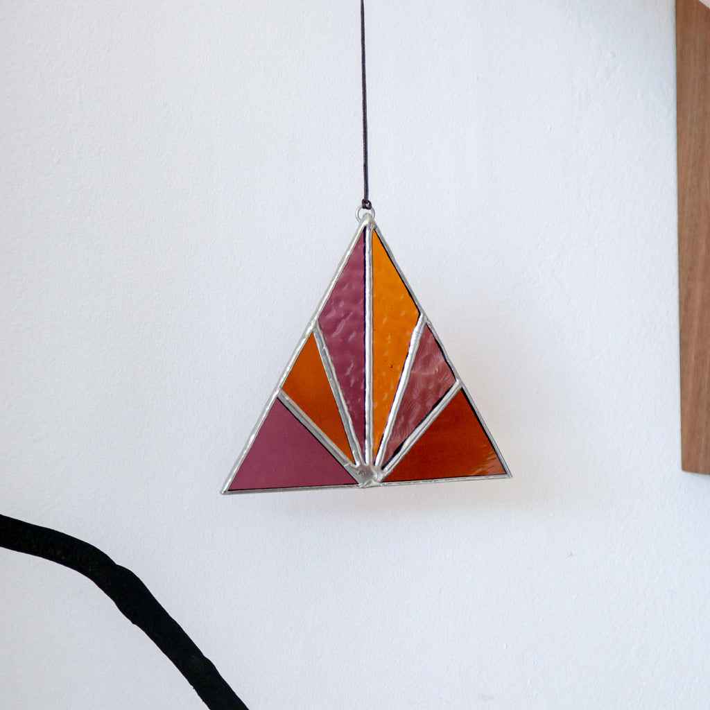 Afternoon Sun : Triangle Suncatcher #5