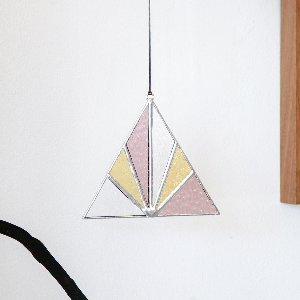 Afternoon Sun : Triangle Suncatcher #6