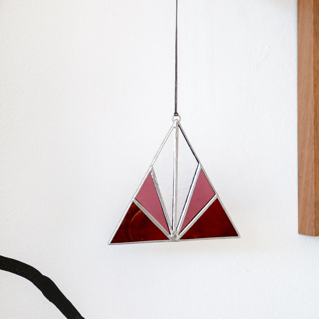 Afternoon Sun : Triangle Suncatcher #7