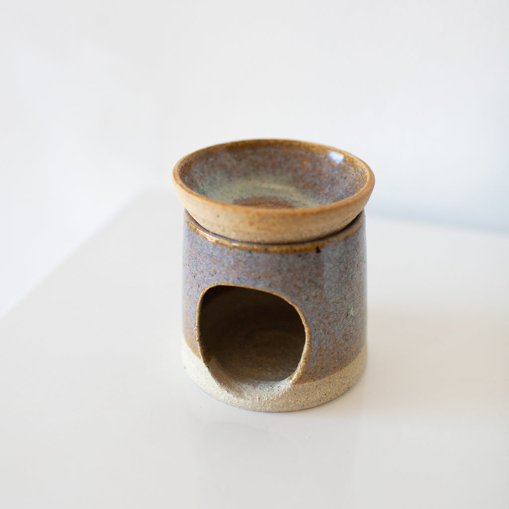 Kumhara Clay : Oil Burner (Blue)