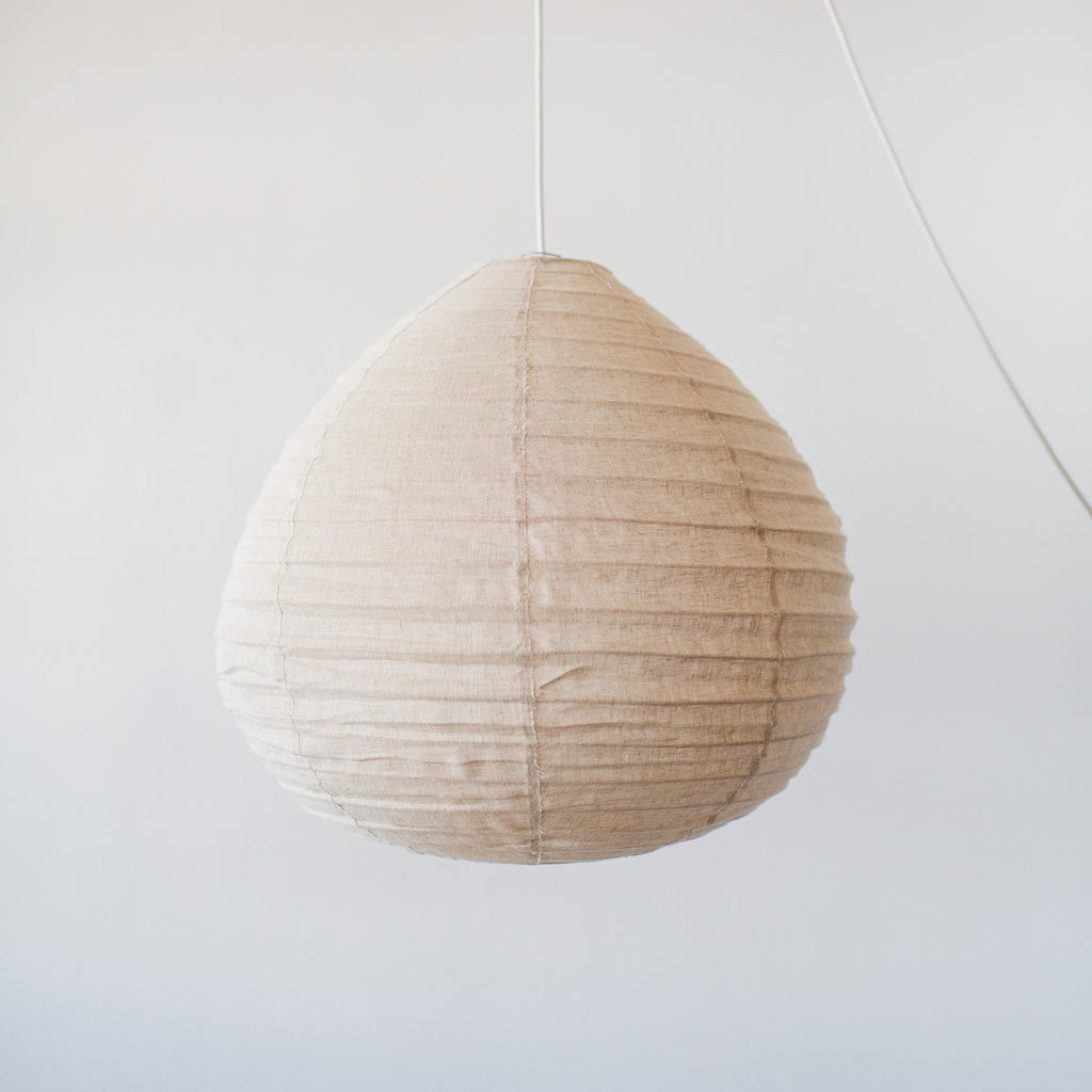 Linen Pendant Light (Natural Round)