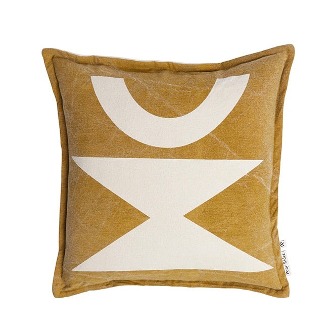 Pony Rider : Woman Cushion Golden