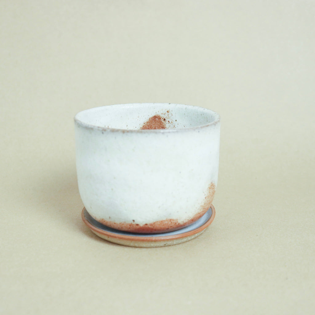 Leaf and Thread : Glacier Stoneware Planter